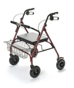 Rollator met 4 wielen voor zwaardere personen