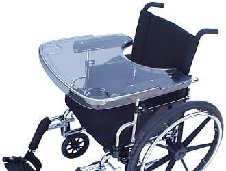 Rolstoeltafeltje transparant-Accessoires voor rolstoel en scooter