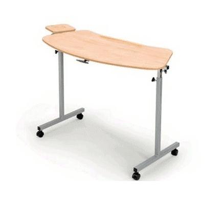 bed en stoel tafeltje met extra blad aan links of rechts
