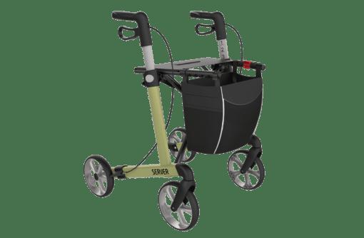 Lichtgewicht rollator Server olive green