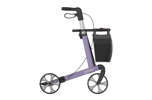 Lichtgewicht rollator Server purple lila