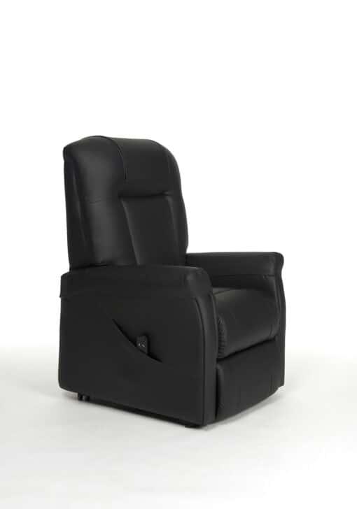 Ontario 1 sta op stoel zwart Skai