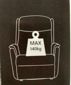 hoeveel kilo kan er op een bergamo sta op stoel