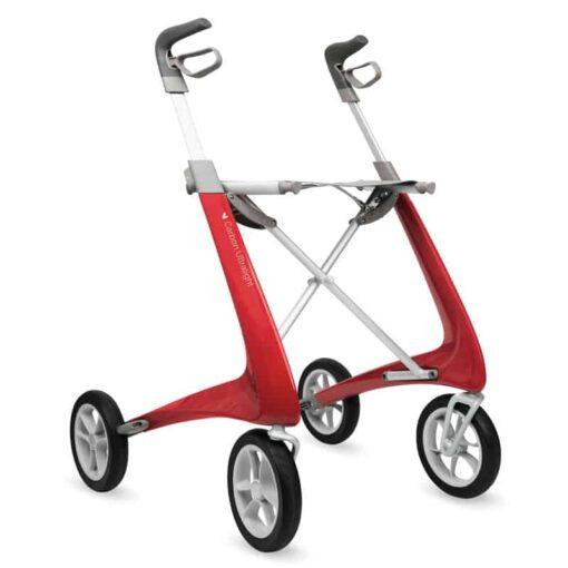 Lichtgewicht rollator carbon rood