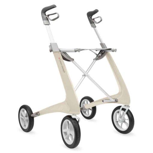 Lichtgewicht rollator carbon wit