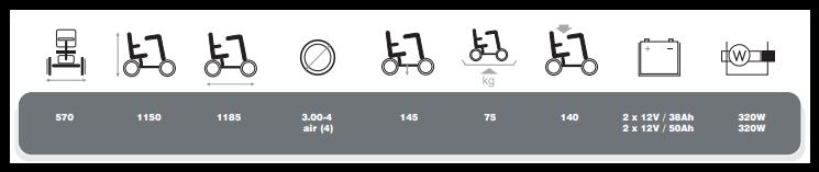 Technische specificaties scootmobiel van vermeiren