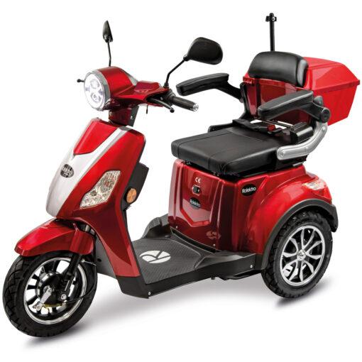 Rolektro e-trike rood voorkant