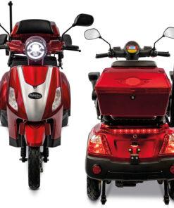 3 wiel scootmobiel Rolektro e-trike kleur rood